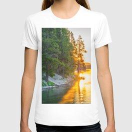 Yellowstone Sunrise Print T-shirt