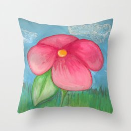 Big Pink Bloom Throw Pillow