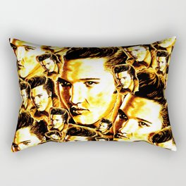 Elvis Gold Rectangular Pillow