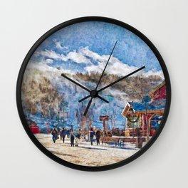 Blue Mountain ski resort, Ontario Wall Clock