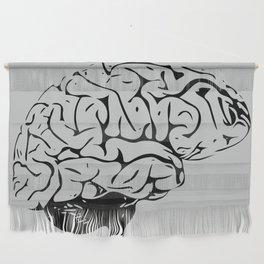 Braaains (black on grey) Wall Hanging