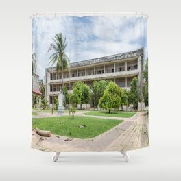 S21 Building C - Khmer Rouge, Cambodia Shower Curtain