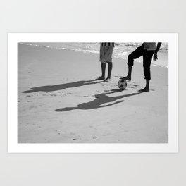 Beach soccer Art Print