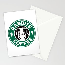 RABBITS COFFEE Stationery Cards
