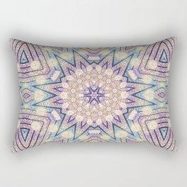 Metallic Pink Doily Geometric Star Rectangular Pillow