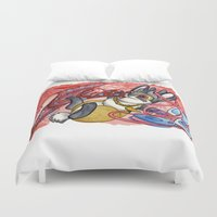 jackalope Duvet Covers featuring February Jackalope by JoJo Seames