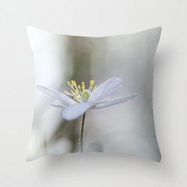 Adorable Wood Anemone... Throw Pillow