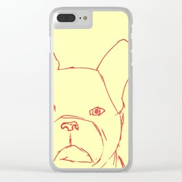 Sketched Frenchie Clear iPhone Case