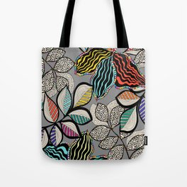 Floral pattern draw Tote Bag