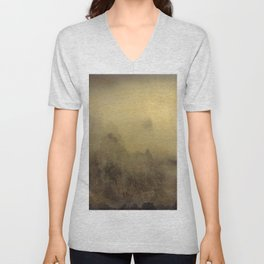 Flying With You... Hand Painted Photograph Unisex V-Neck
