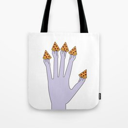 How Many Slices You Want? (White) Tote Bag