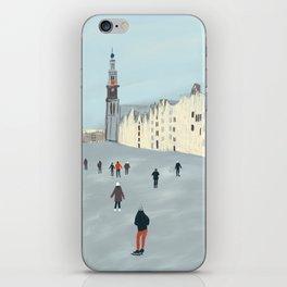 Ice Skating in Amsterdam iPhone Skin
