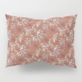 Water Swingers in Beach Sand ( leafy sea dragon pattern in coral ) Pillow Sham