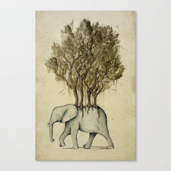 Carrying the Νature Canvas Print