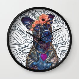 Lola The Pit Bull Wall Clock