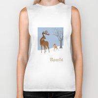 bambi Biker Tanks featuring Bambi by TheWonderlander