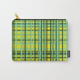 Checkered yellow green Design Carry-All Pouch