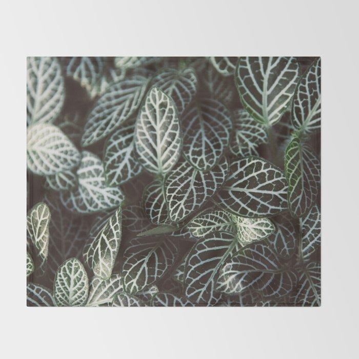 Botanical Gardens Zebra Leaf #398 Throw Blanket