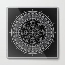 Bear Spirit (Gray) Metal Print