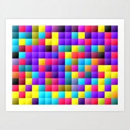 Pixel dance floor. Art Print