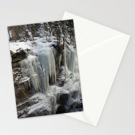 Maligne Canyon Ice Structures Stationery Cards
