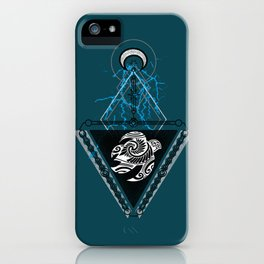 Mystical Geometric Tribal Turtle iPhone Case