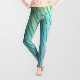 Rainbow Tiger Stripe Pattern - Inspired by the 90s Leggings