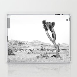 Vintage Desert Scape B&W // Cactus Nature Summer Sun Landscape Black and White Photography Laptop & iPad Skin