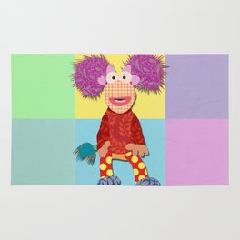 red fraggle Rug