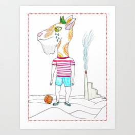 Goat Boy Why do not you have fun ? Art Print