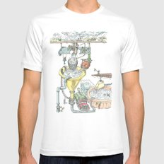 The Wonderful World of Water! Mens Fitted Tee White MEDIUM