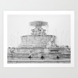 Scott Fountain_Belle Isle_Detroit, Michigan Art Print