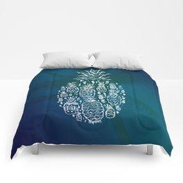 Pineapple Fields Forever Comforters