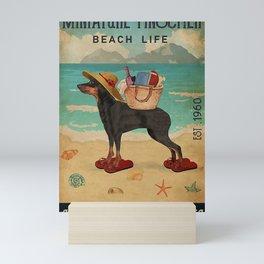 Beach Life Sandy Toes Miniature Pinscher dog Mini Art Print