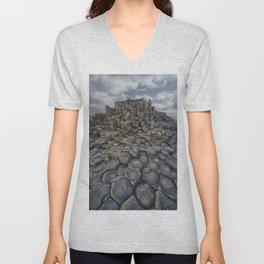 The world of hexagonal stones Unisex V-Neck