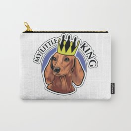 Brown dachshund king Carry-All Pouch