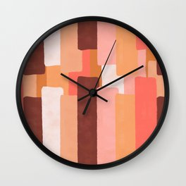 Line In Coral #society6 #abstractart Wall Clock