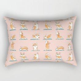 Corgi Yoga Watercolor Rectangular Pillow