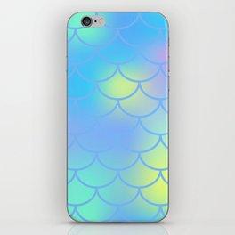 Turquoise Mermaid Pattern iPhone Skin
