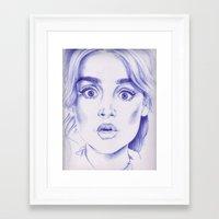 jenna kutcher Framed Art Prints featuring jenna coleman by Jill Schell