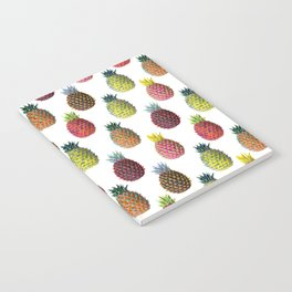 Psychedelic Pineapples in Tropical Colors | Maximalist Pattern Notebook