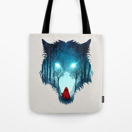 Big Bad Wolf (light version) Tote Bag