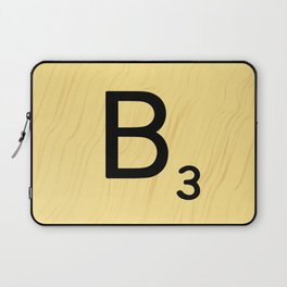 Scrabble B Decor, Scrabble Art, Large Scrabble Prints, Word Art, Accessories, Apparel, Home Decor Laptop Sleeve