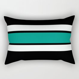 Team Colors 2...Teal Rectangular Pillow