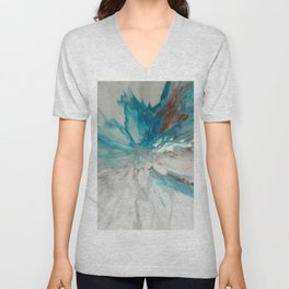 Blown Away - Abstract Acrylic Art by Fluid Nature Unisex V-Neck
