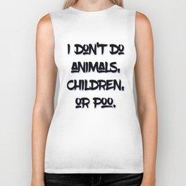 """AmA Asa Akira - """"I don't do animals, children, or poo."""" Biker Tank"""