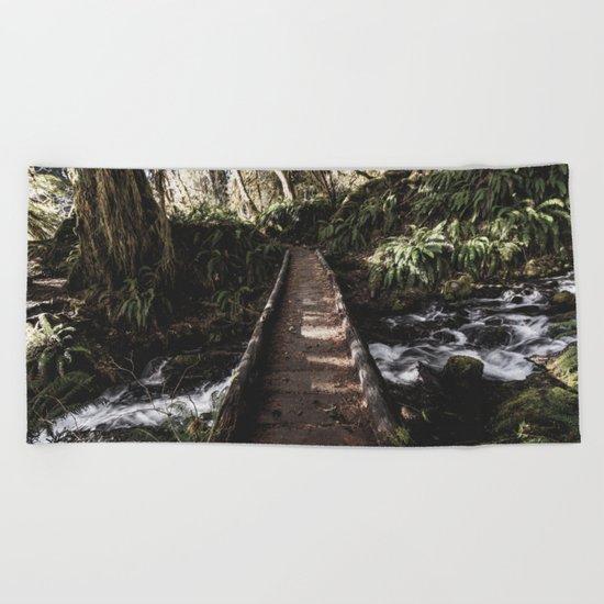 Hoh Rainforest River Trail Beach Towel