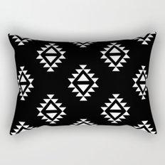 Linocut southwest minimal pattern black and white print scandinavian minimalism Rectangular Pillow