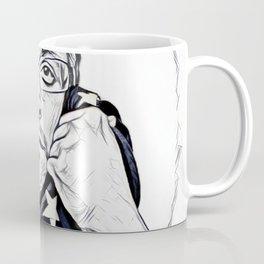 Snowden Artistic Illustration Pencil draw Style Coffee Mug