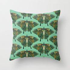 swallowtail butterfly emerald Throw Pillow